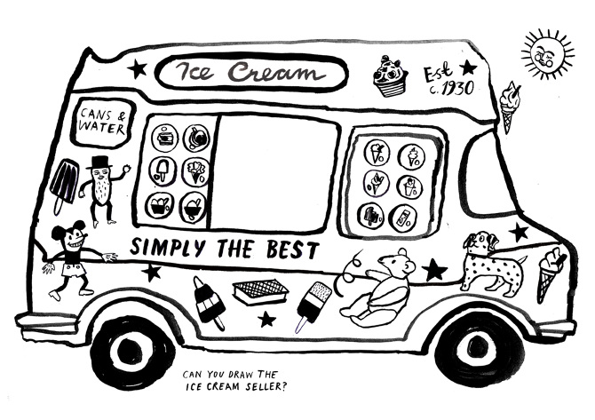 ice cream truck coloring page - photo #17