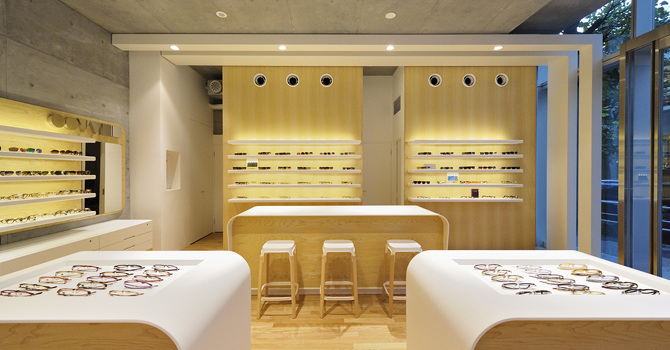 Interior Design And Custom Furniture For The Oliver Peoples Retail Store In  Daikanyama, Japan. The Orb Display Cabinets Are Vacuum Formed Styrene And  Lit By ...